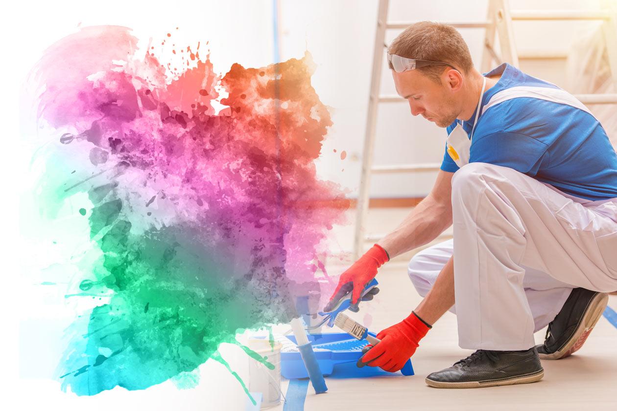 Farby wewnętrzne - kolorowe